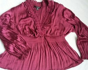 Athletic Stewart burgundy blouse